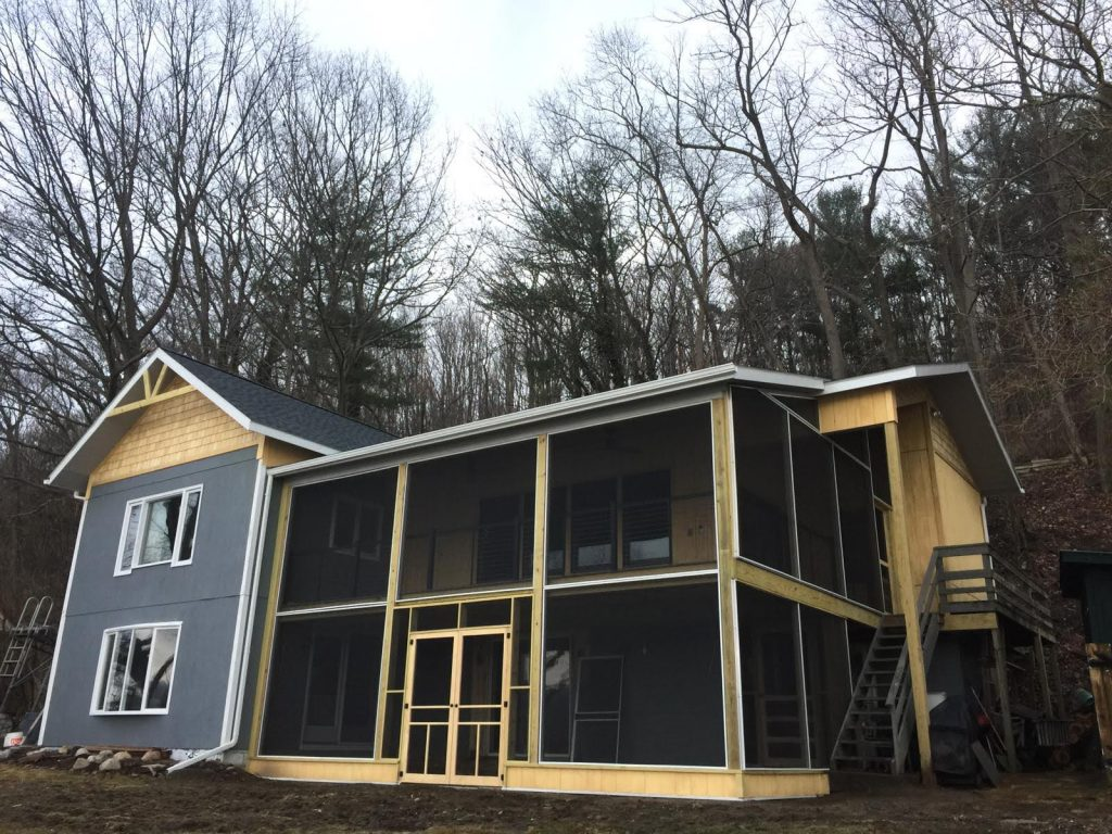 Addition and screened in Porch