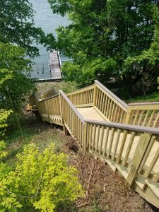 Lakefront stairway