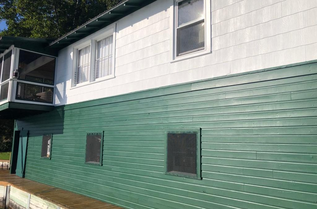Exterior of Boathouse Painted