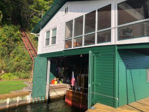 green boathouse