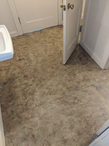 """before"" bathroom floor remodel"
