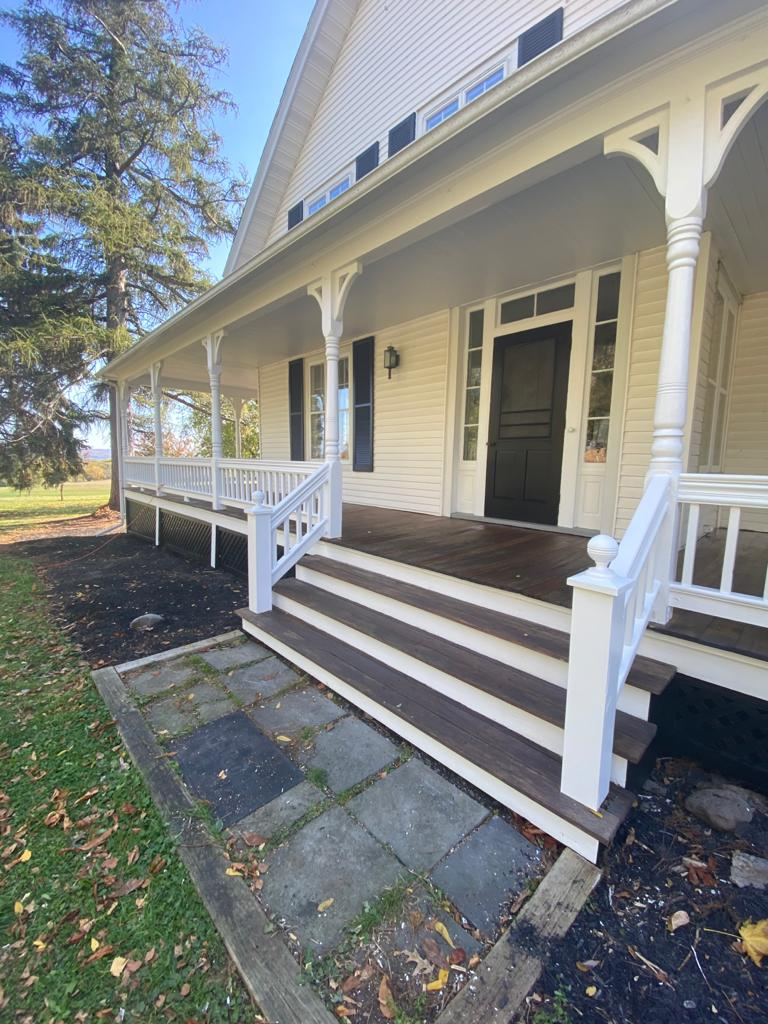 Stained Mahogany Porch